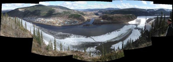 Dawson City Break Up on May 7, 2011 at 4.25 PM.