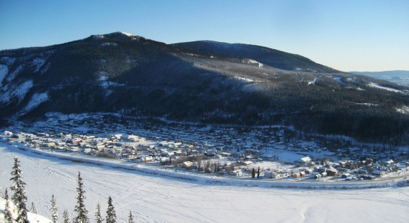 The Yukon River and Dawson City
