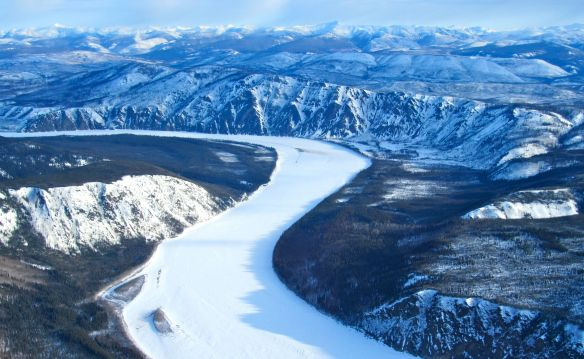 Yukon River and Ogilvie Mountains